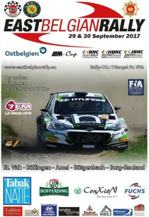 Next event East Belgian Rally 2017